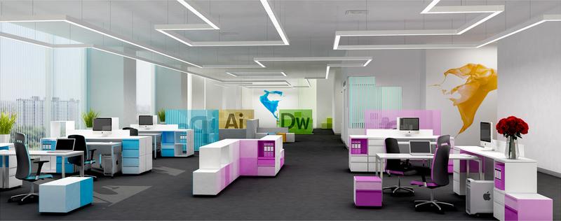 Các kiểu thiết kế văn phòng làm việc chuyên nghiệp-2