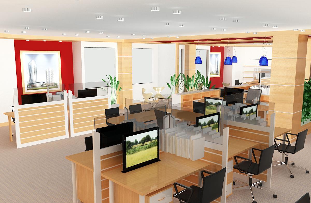 Các kiểu thiết kế văn phòng làm việc chuyên nghiệp-3