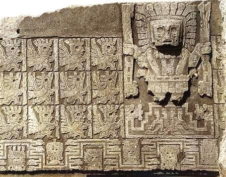 Hình tượng Thần Viracocha (Ảnh: Arthur Posnansky, Wikimedia)