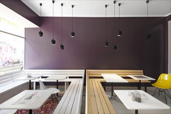 Thiết kế không gian quán cafe bằng gỗ