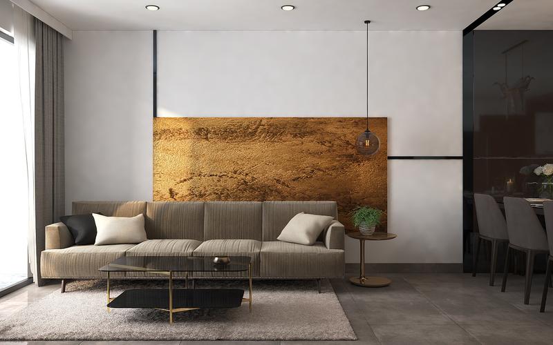 Thiết kế nội thất căn hộ 80m2 đẹp hiện đại