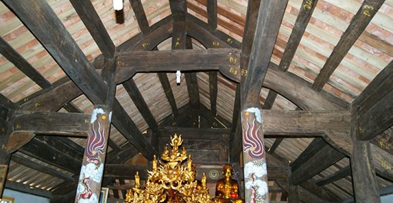 Kết cấu vỉ kèo chùa Nhân Bồi – Đô Lương