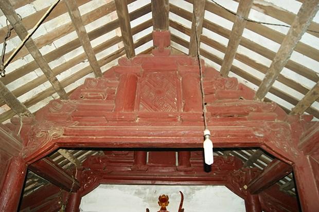 Kết cấu vỉ nóc kiểu giá chiêng – chống rường cụt – phong cách nghệ thuật thế kỷ XVIII ở chùa Trung Can
