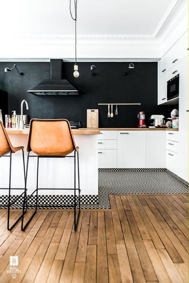 Ngắm hoài không chán 16 căn bếp vượt thời gian với gam màu đen – trắng - Ảnh 11.