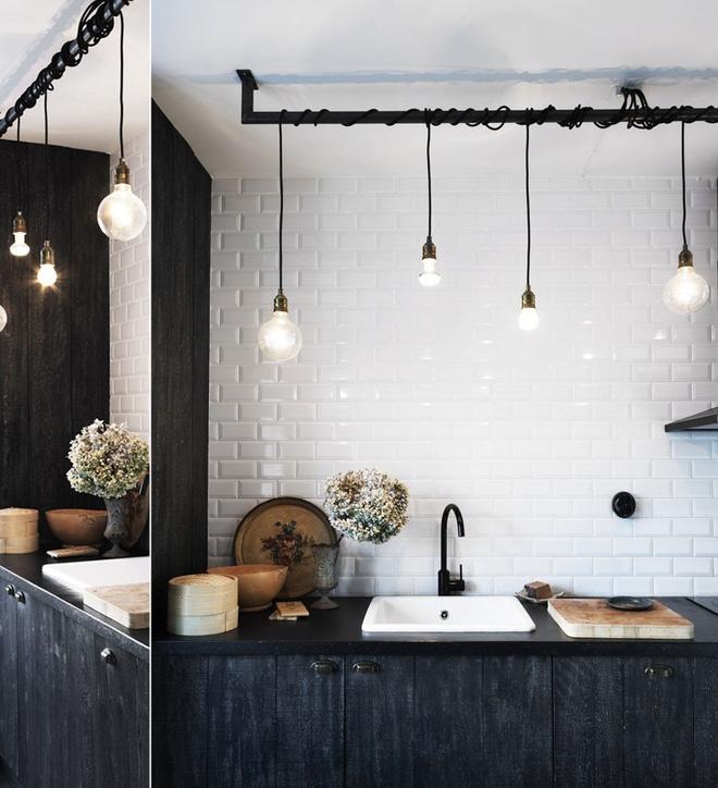 Ngắm hoài không chán 16 căn bếp vượt thời gian với gam màu đen – trắng - Ảnh 12.