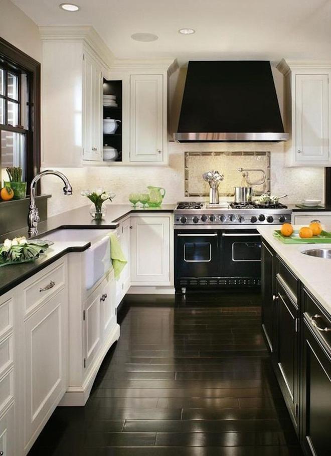 Ngắm hoài không chán 16 căn bếp vượt thời gian với gam màu đen – trắng - Ảnh 3.