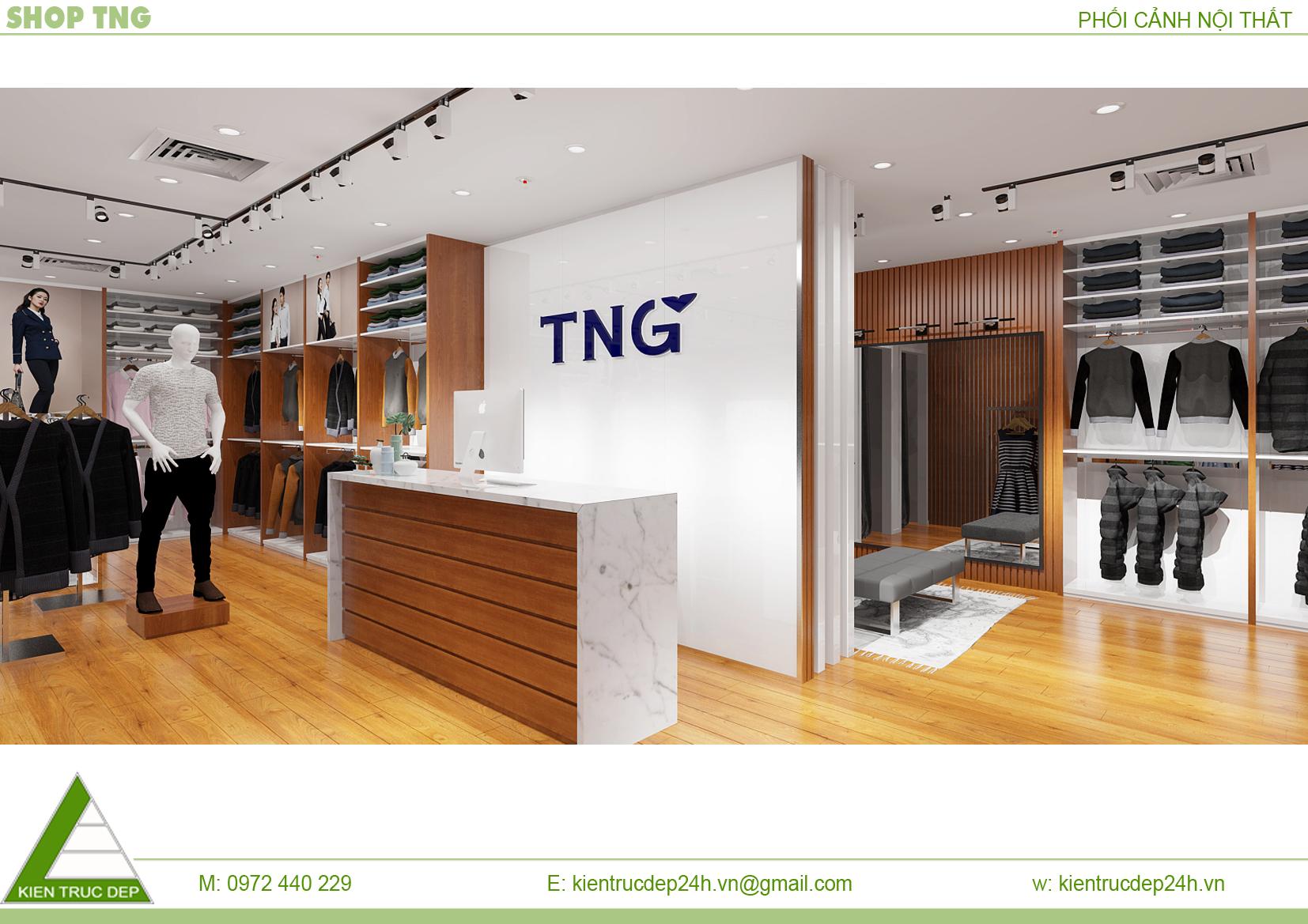 thiết kế shop thời trang TNG