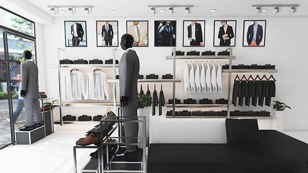 Mẫu thiết kế cửa hàng thời trang nhỏ