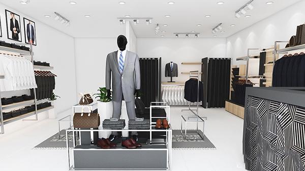 Thiết kế cửa hàng thời trang nhỏ