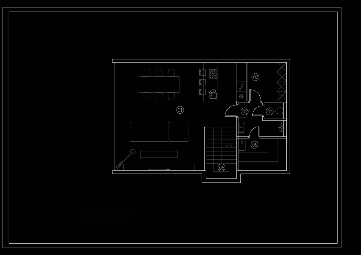 Mẫu thiết kế nhà ống 2 tầng 3 phong ngủ đẹo hiện đại đẳng cấp 31