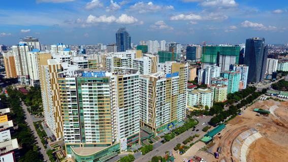 Cụm nhà ở cao tầng Mandarin Garden, khu phát triển mới phía Tây Hà Nội