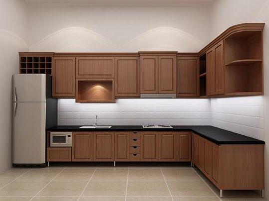 Nội thất nhà bếp kiểu dáng đơn giản--Mẫu 1