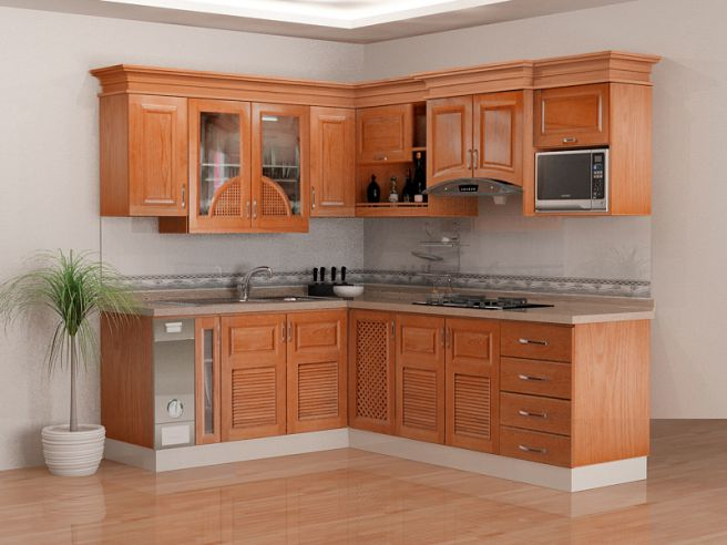 Nội thất nhà bếp kiểu dáng đơn giản--Mẫu 10