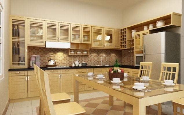 Nội thất nhà bếp kiểu dáng đơn giản--Mẫu 7