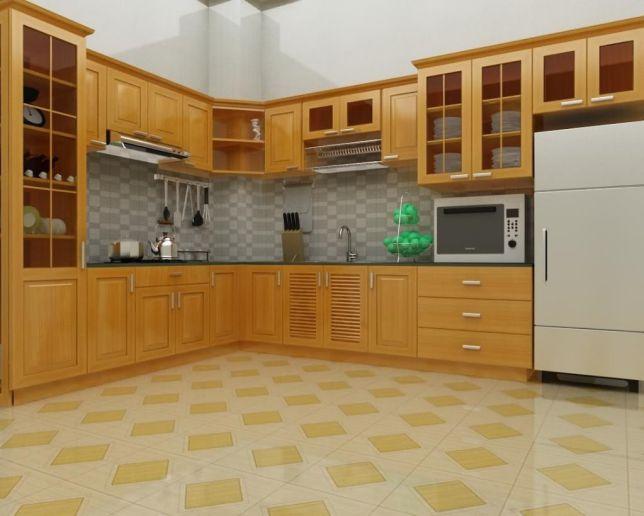 Nội thất nhà bếp kiểu dáng đơn giản--Mẫu 8