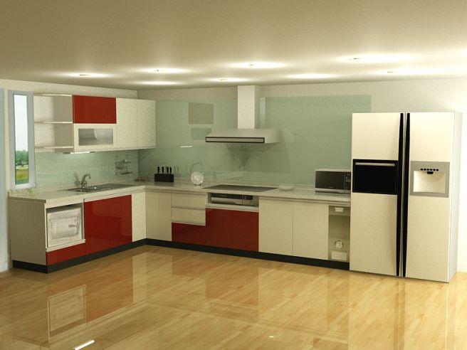 Nội thất nhà bếp kiểu dáng đơn giản--Mẫu 9