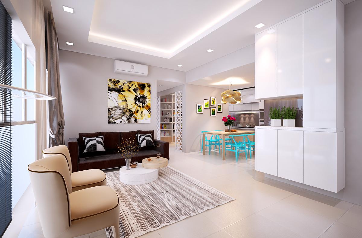 Độc đáo trong ý tưởng thiết kế nội thất chung cư.