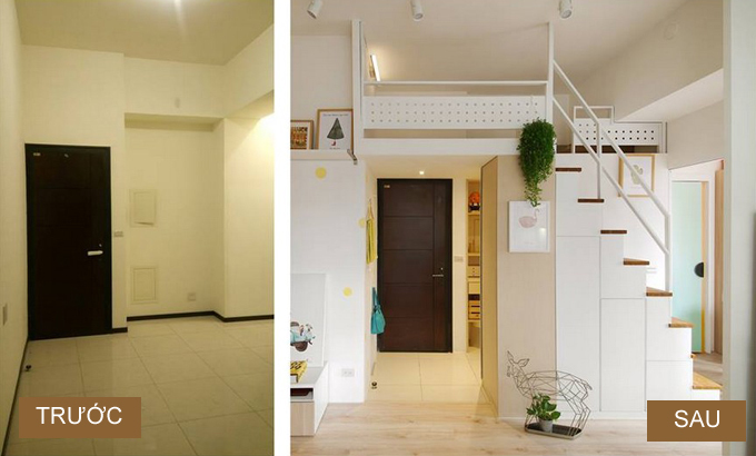 Căn hộ 33 m2 như rộng gấp đôi sau khi sửa