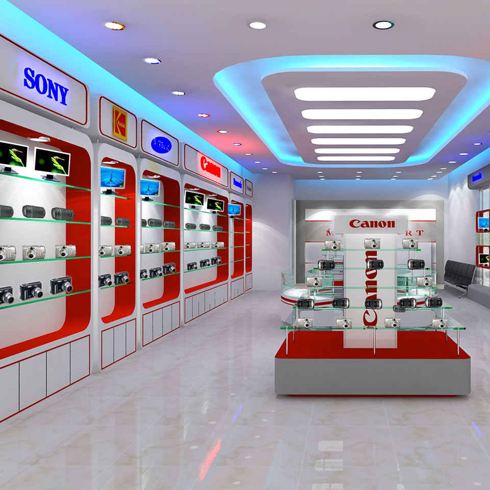 Mẫu thiết kế nội thất showroom điệm máy