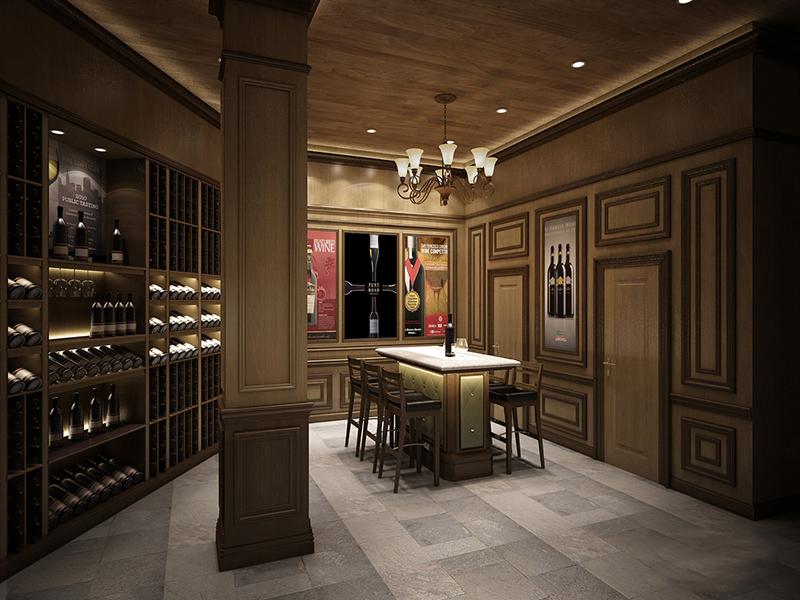 Mẫu thiết kế nội thất showroom rượu