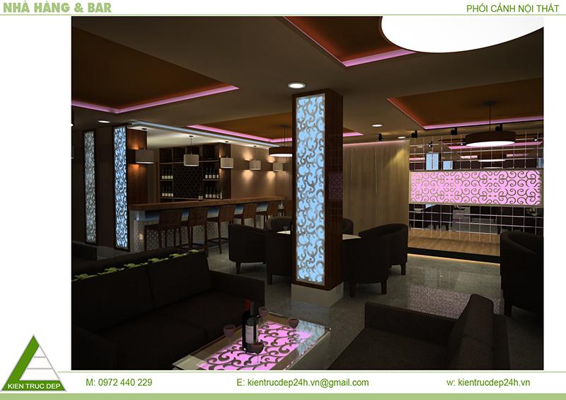 Nội thất nhà hàng Hồ Tùng Mậu