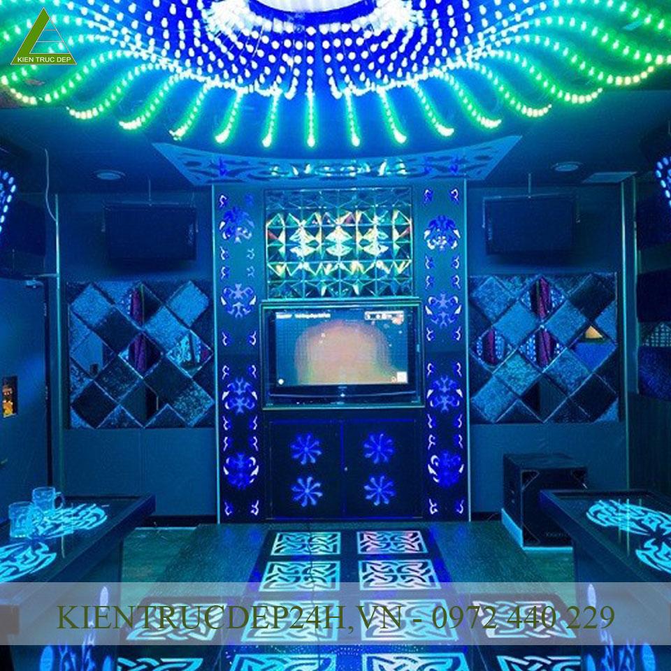 Nội thất phòng karaoke tiện nghi