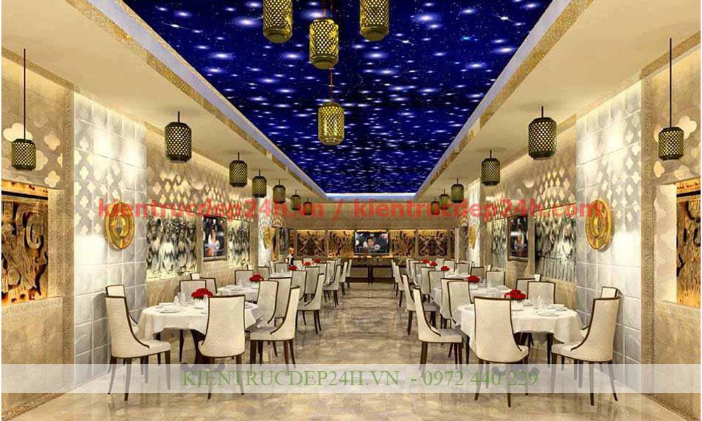 Thiết kế kiến trúc nhà hàng - cafe