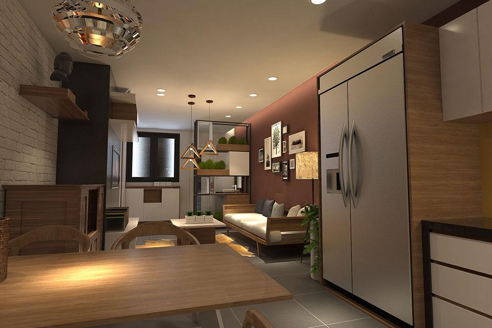 Thiết kế thi công căn hộ chung cư nhỏ 50m2