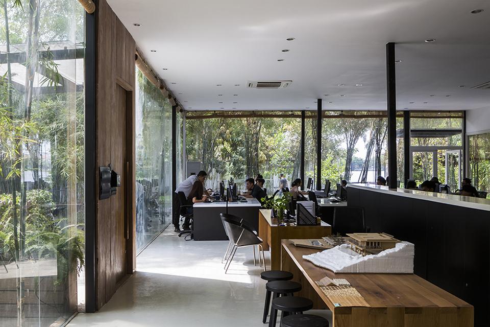 Thiết kế văn phòng với kiến trúc đẹp tươi mát