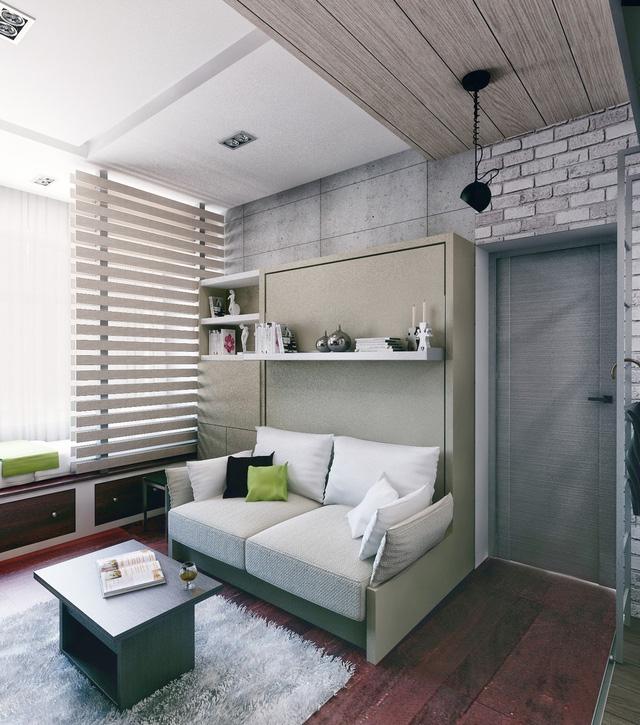 Không gian bếp được thiết kế rất đơn giản nhưng vô cùng tiện lợi và sáng sủa.