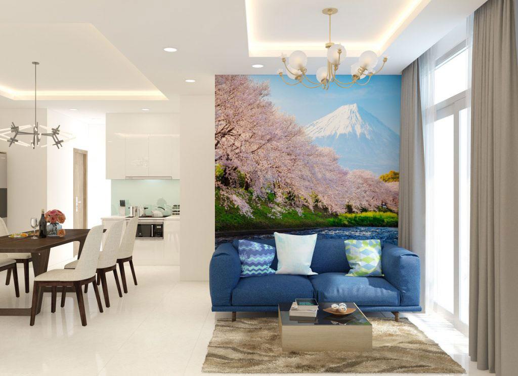Hình ảnh 3D: bản vẽ thiết kế nội thất căn hộ 80m2 [2 phòng ngủ] chung cư Vinhomes Central Park